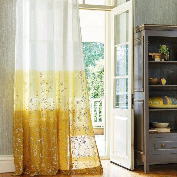 Visillo bordado blanco   Villalba Interiorismo | Ventanas vestidas