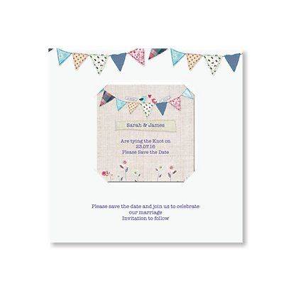 Bunting Save the Date Magnet Beautiful Save the Date cards and