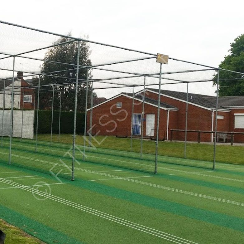 A Heavy Duty In Ground Steel Cricket Practice Net Cage With Fixed Double And Triple Lane Options Designed For Permanent Crick Cricket Cricket Club Weight Cage