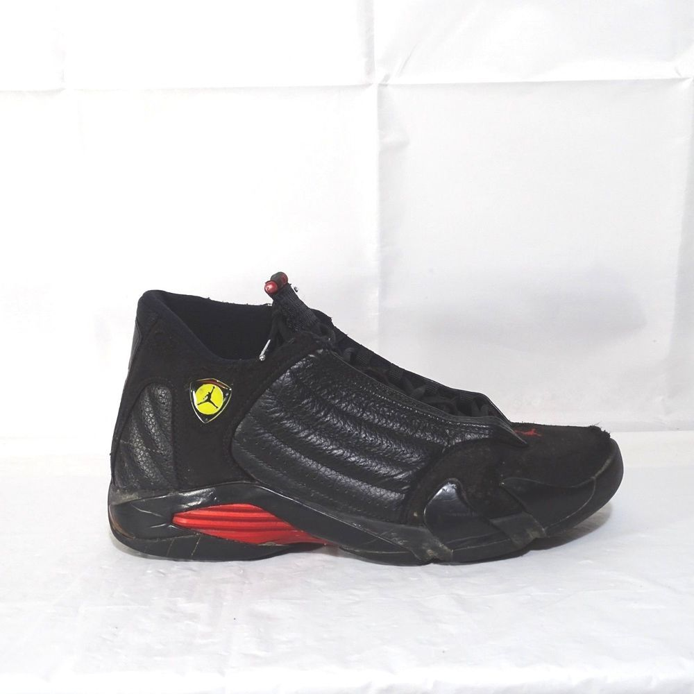 Nike Jordan 14 Retro Shoes 2011 Men Size 10.5 Black Red 311832-010 DAMAGED   Nike  BasketballShoes 48e95e3bb