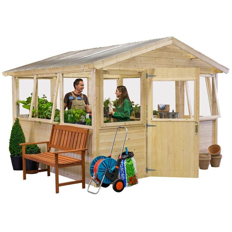 Abri-serre de jardin en bois certifié 9,18m² TK300 Bear County ...