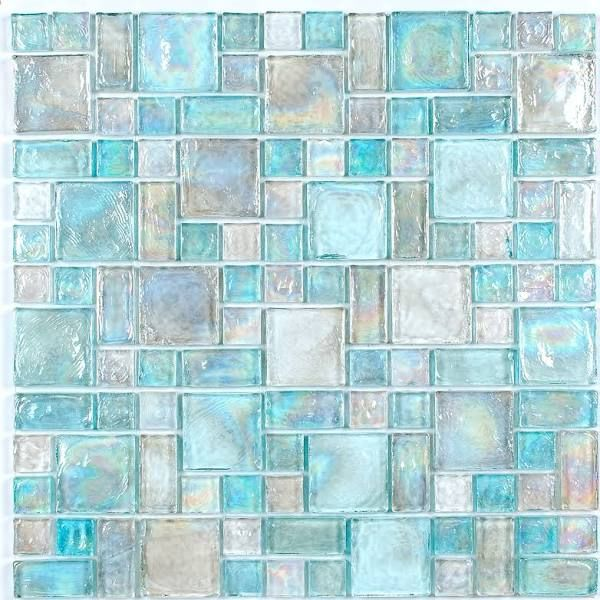 Patterned Sea Gl Tile In 2019 Mosaic Tiles