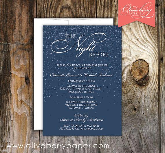 Pre Wedding Dinner Invitation: Night Before Rehearsal Dinner Invitation By
