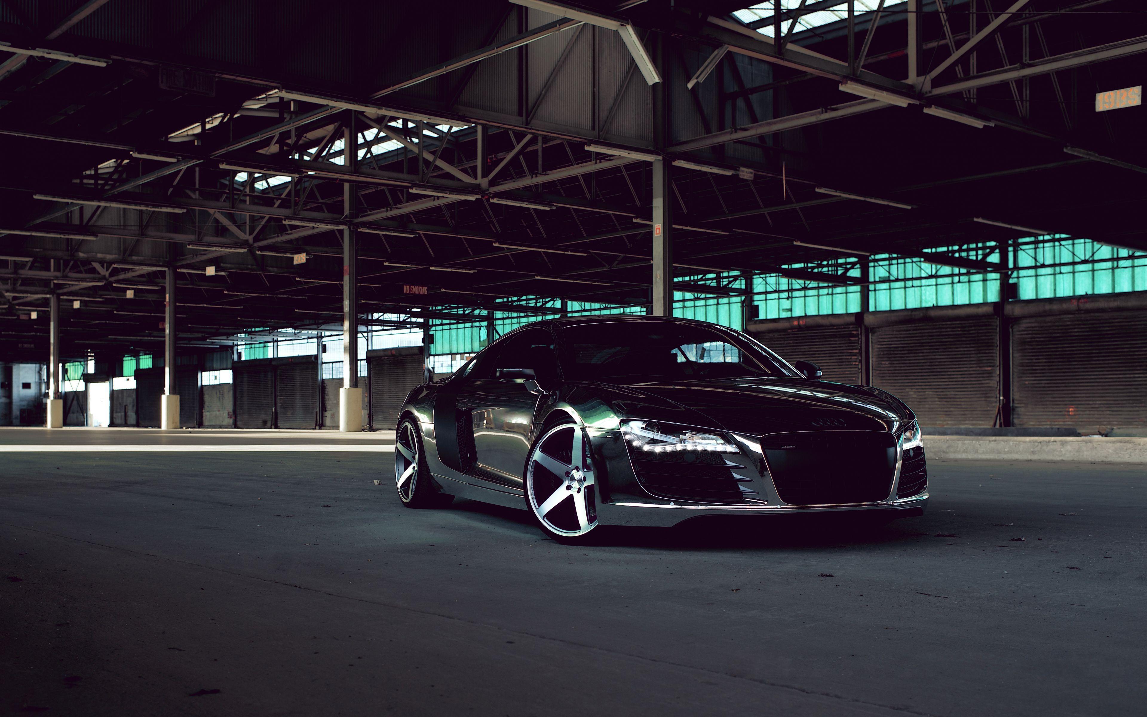 3840x2400 Wallpaper Audi R8 Chrome Cw 5 Matte Black Black Side View Audi Audi R8 Matte Black Black Audi