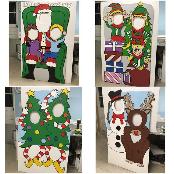 Christmas Face In Hole Photo Prop | Thecannonball org