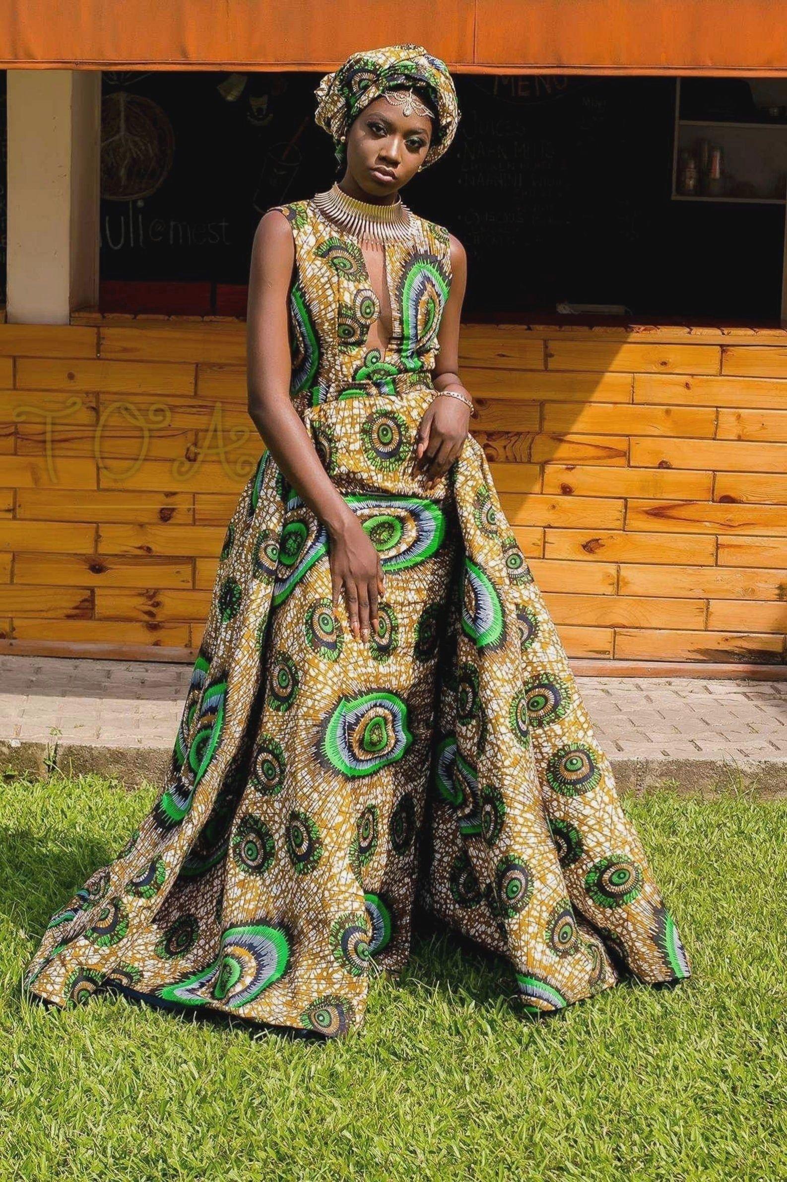 African print short dress, African fashion, Ankara