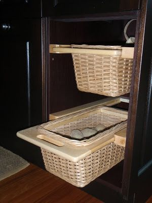 Any Opinions On Sliding Baskets For Onions Potatoes Kitchens