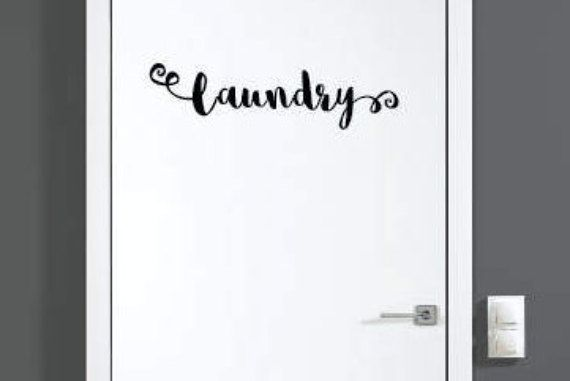 Laundry Decal Laundry Room Sticker Room Door Decal Art Or Wall