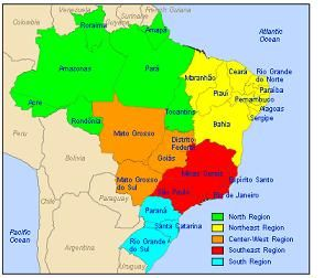 map of brazil brasil brazil pinterest brazil