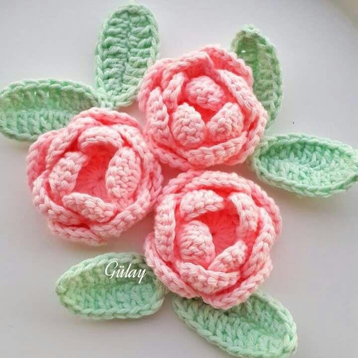 Růžičky | Italia | Pinterest | Flores, Flores en crochet y Flores ...