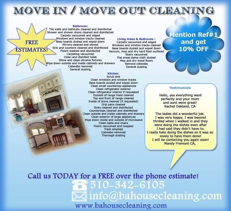 Apartment Rental Ads: Move Out Cleaning Flyer