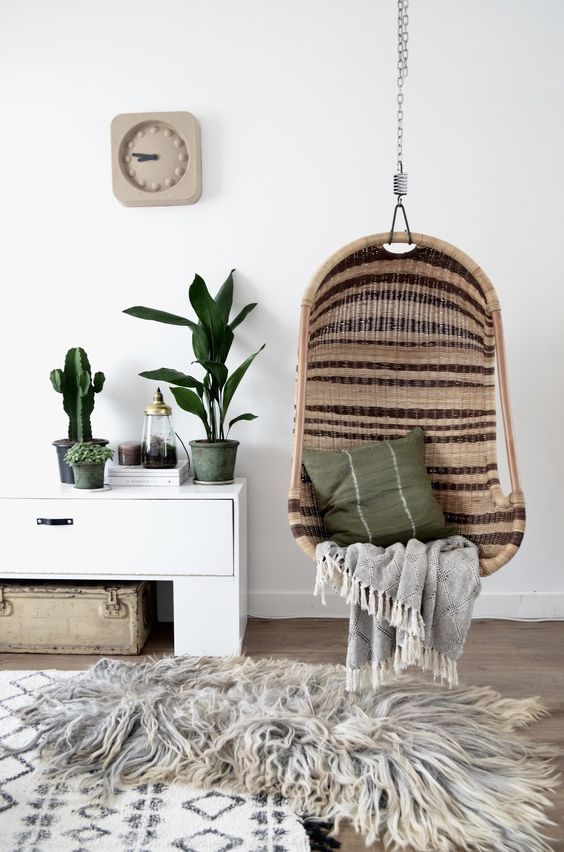 14 Hanging Book Nooks You Need to See Bohemian, Living rooms and Room