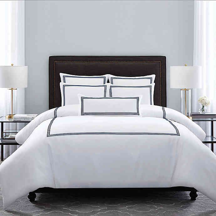 Photo of Wamsutta® Hotel Triple Baratta Stitch Comforter Set. View a larger version of t…