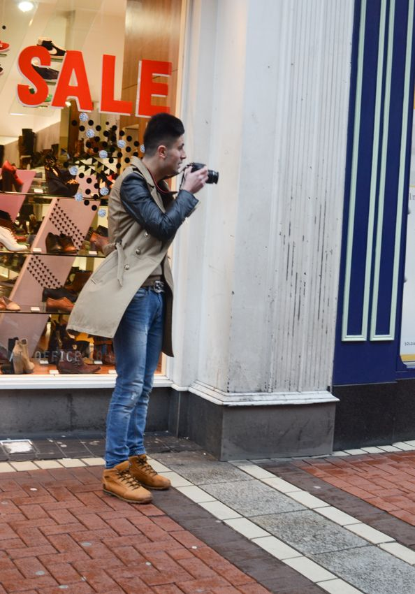 Photographing photographers #dublin #leatherdetails #menswear