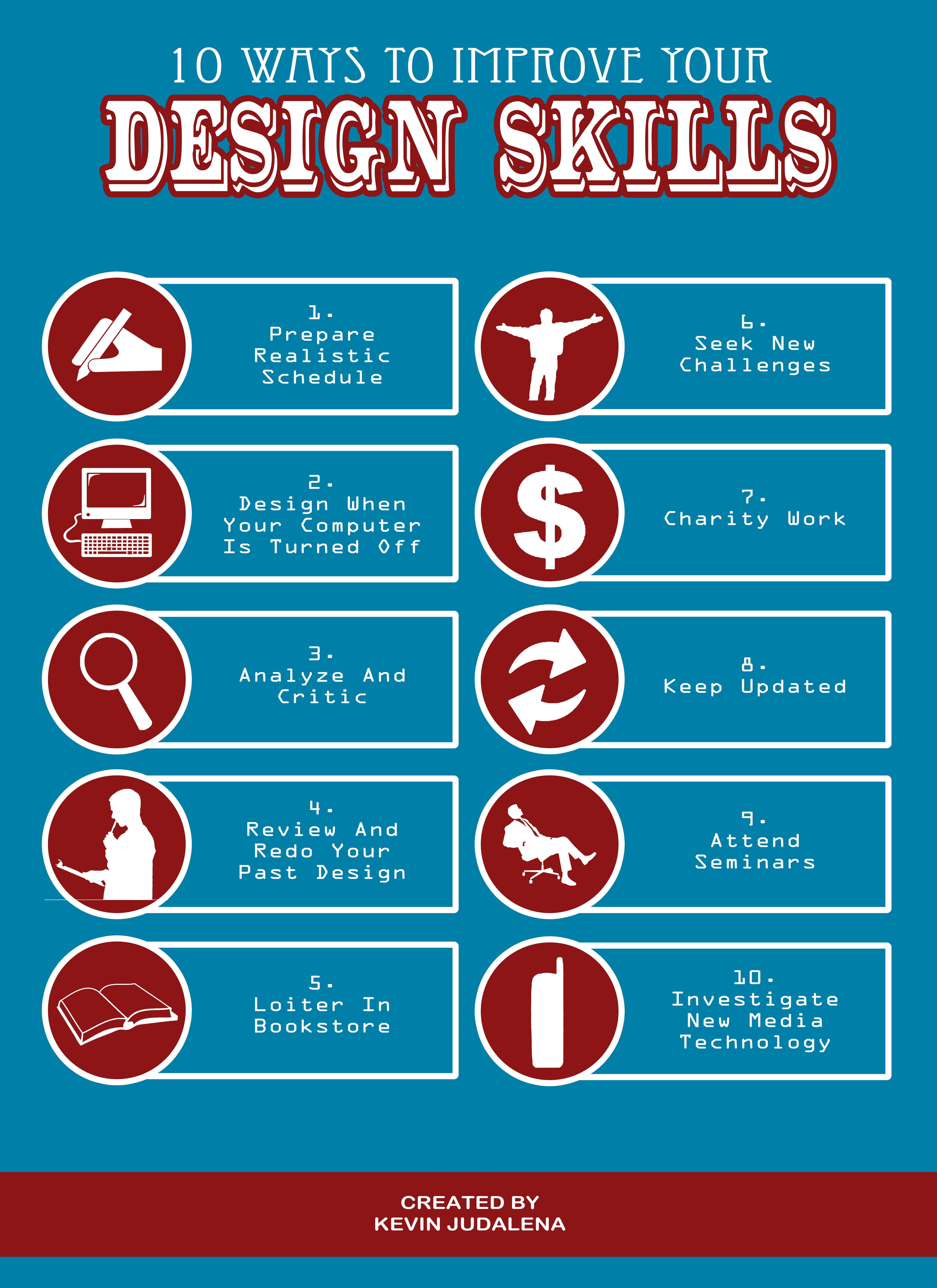 10 ways to improve your design skills infographic design 10 ways to improve your design skills infographic design infographic infographics infographic and design