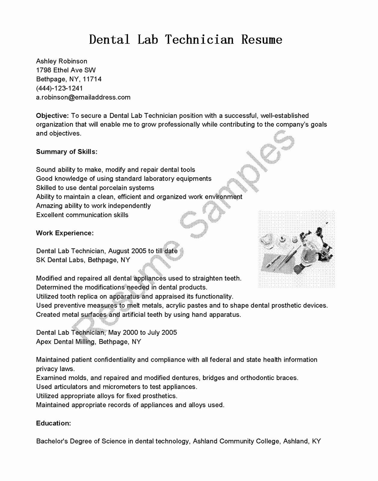 20 Lab Technician Resume Examples in 2020 Resume