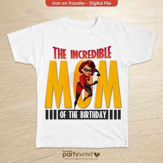 Incredibles 2 Birthday Shirt Mom Family Shirts T For Girls And Boys