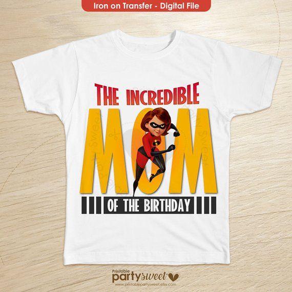 eb3d05e43 Incredibles 2 Birthday Shirt mom, Incredibles 2 family shirts, Birthday t- shirt for girls and boys -