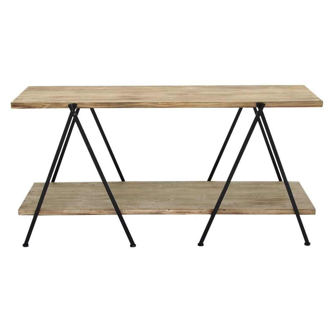 Wood and Metal Console Table | AllModern