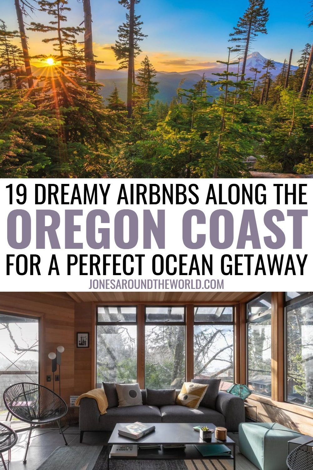 Planning a road trip along the west coast and looking for some amazing Airbnb Oregon Coast vacation rentals? I've put together this list of incredible places to stay! With stunning beaches, jaw-dropping coastal views, and breathtaking landscapes, the Pacific Northwest Coastal Highway region is famed for being beautiful and packed with outdoor activities. The astounding natural scenery and quirky towns of the Oregon Coast make it the ideal getaway destination. #oregoncoast #oregon #pacificcoast