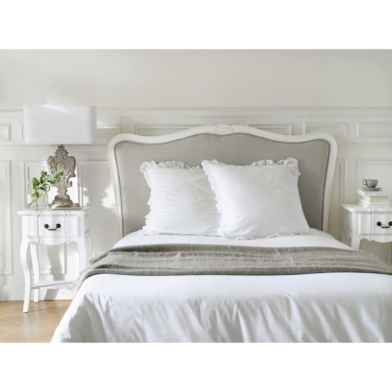 testata da letto in massello di legno e cotone l 140 cm chambre romantique nel 2019 letto
