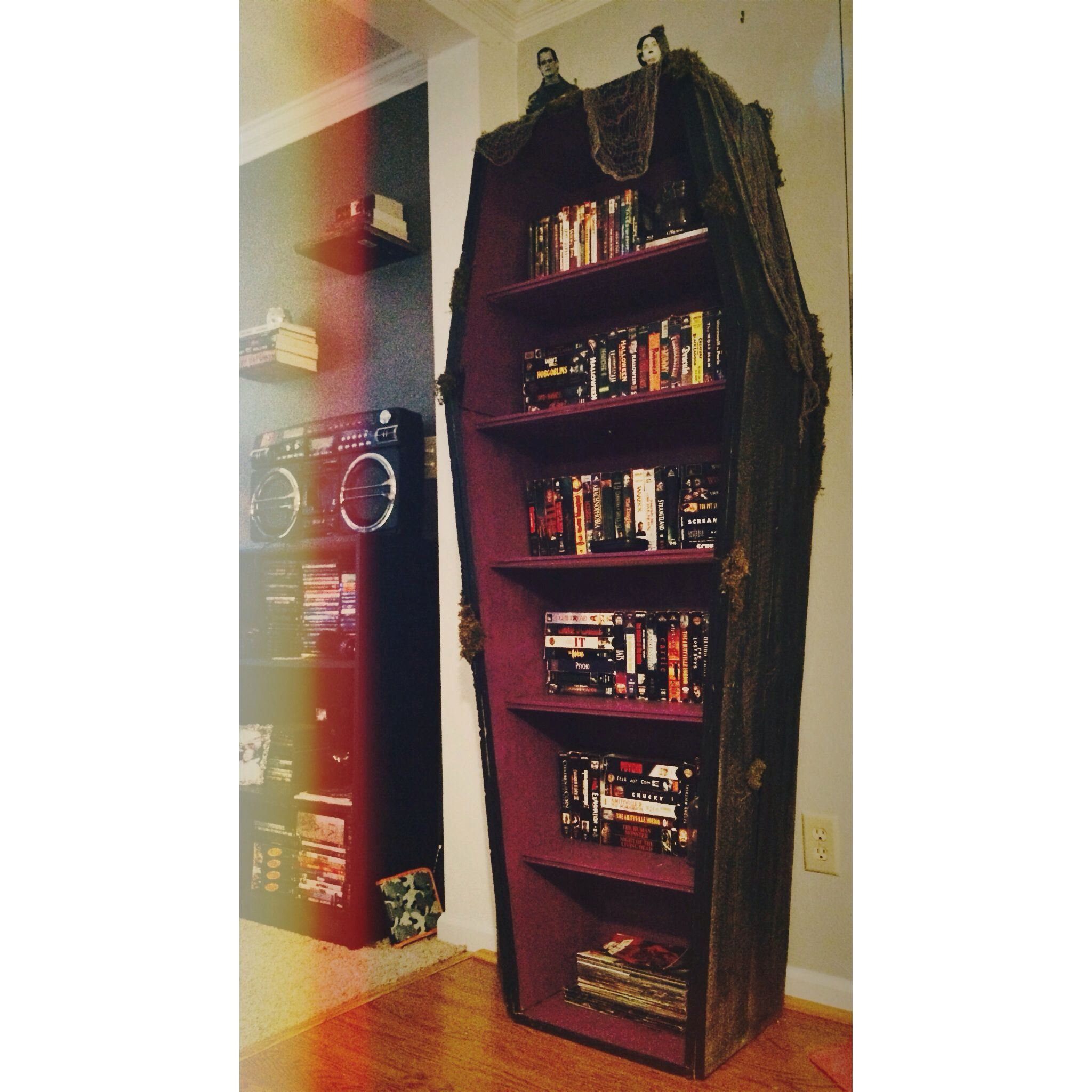 My coffin bookshelf More fore sale Message me if you want one