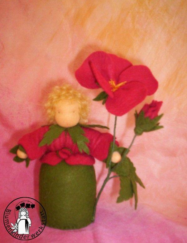 Blumenkinderwerkstatt - Blumenkinder für den Jahreszeitentisch: Heckenrose