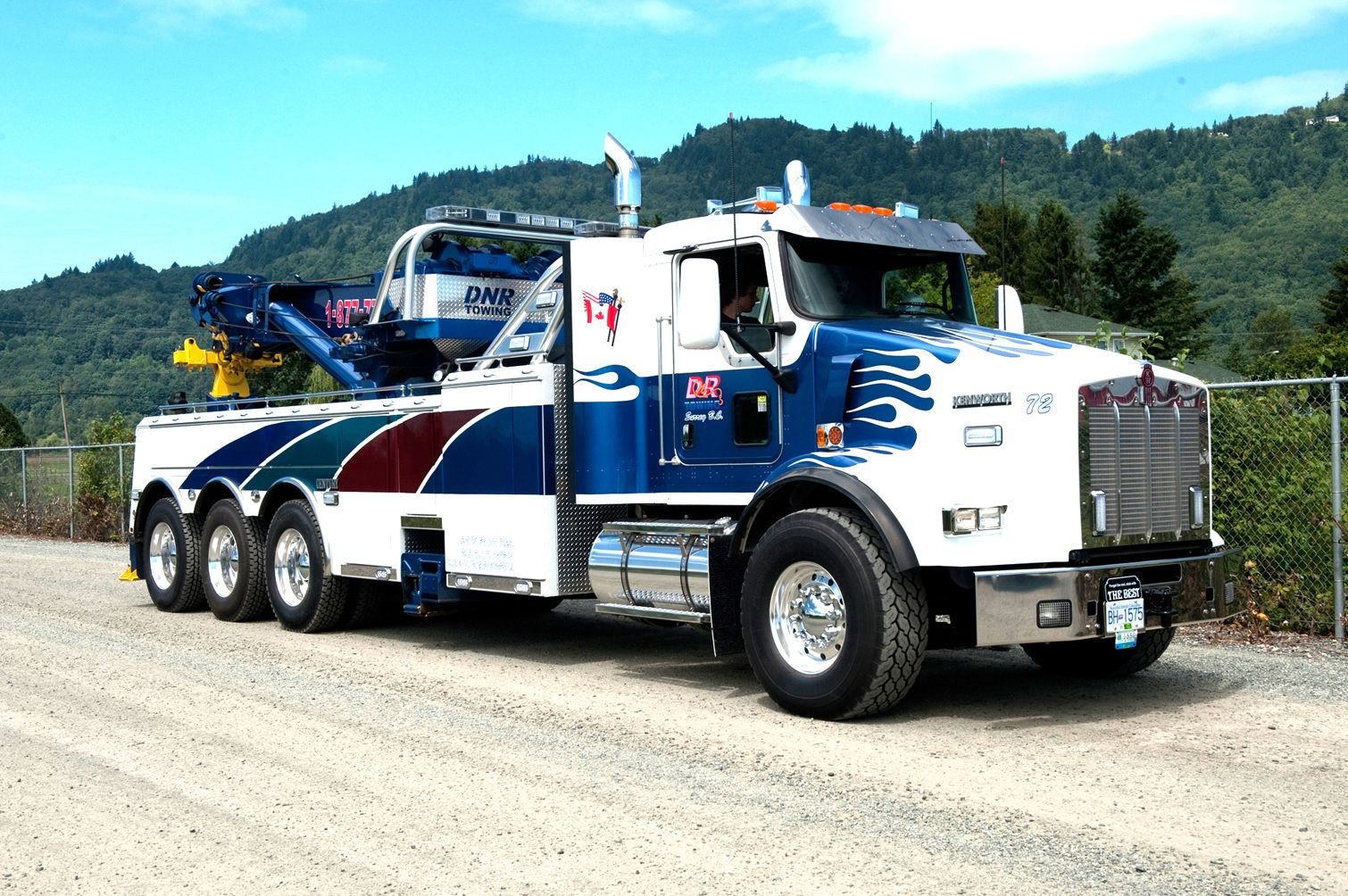 Dnr towing surrey bc kenworth t800 w century 75 ton rotator