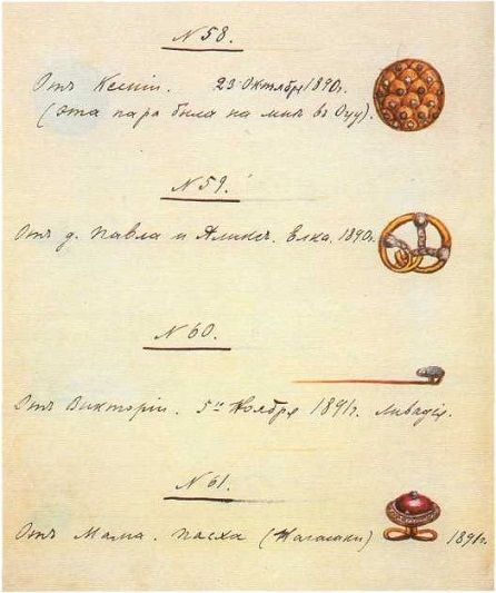 Royal Russia News: Notebook of Tsar Nicholas II with Sketches of Jewellery Items