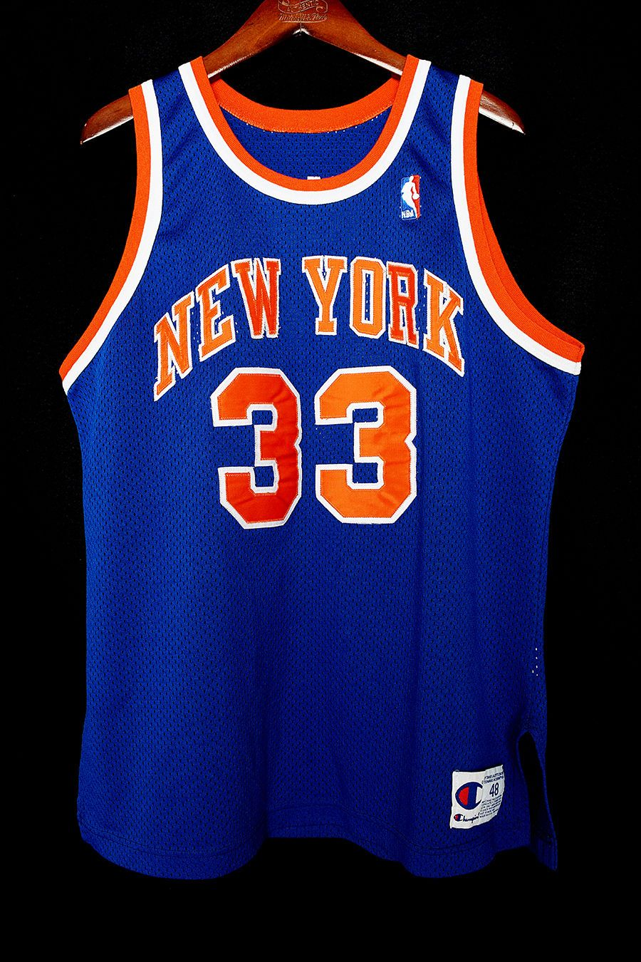 competitive price 99a31 8ace2 100% Authentic Patrick Ewing Champion NY Knicks Jersey Size ...