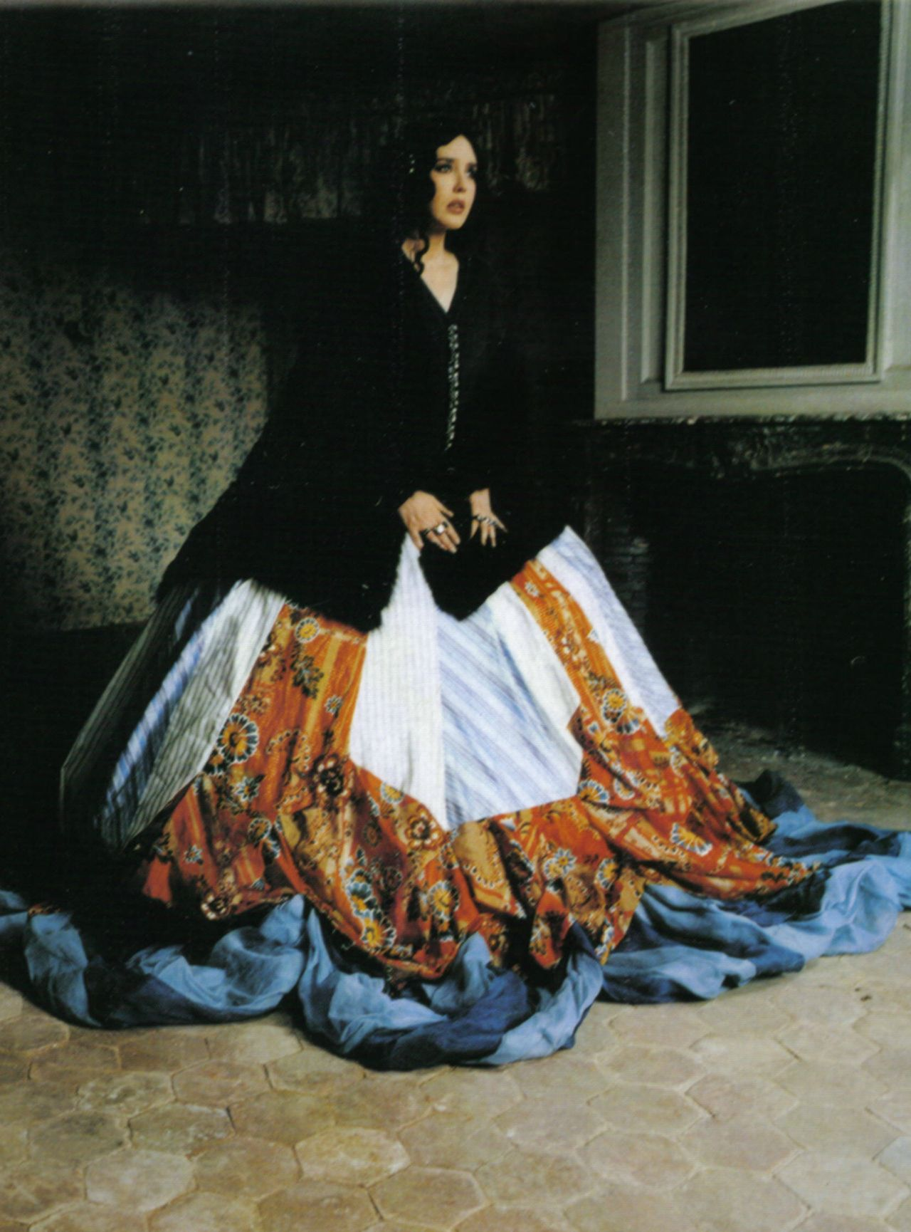 """Isabelle Adjani in 'I. Adjani!' Photographer: Deborah Turbeville Skirt: John Galliano F/W 2004/05 Vogue Italia September 2004 """
