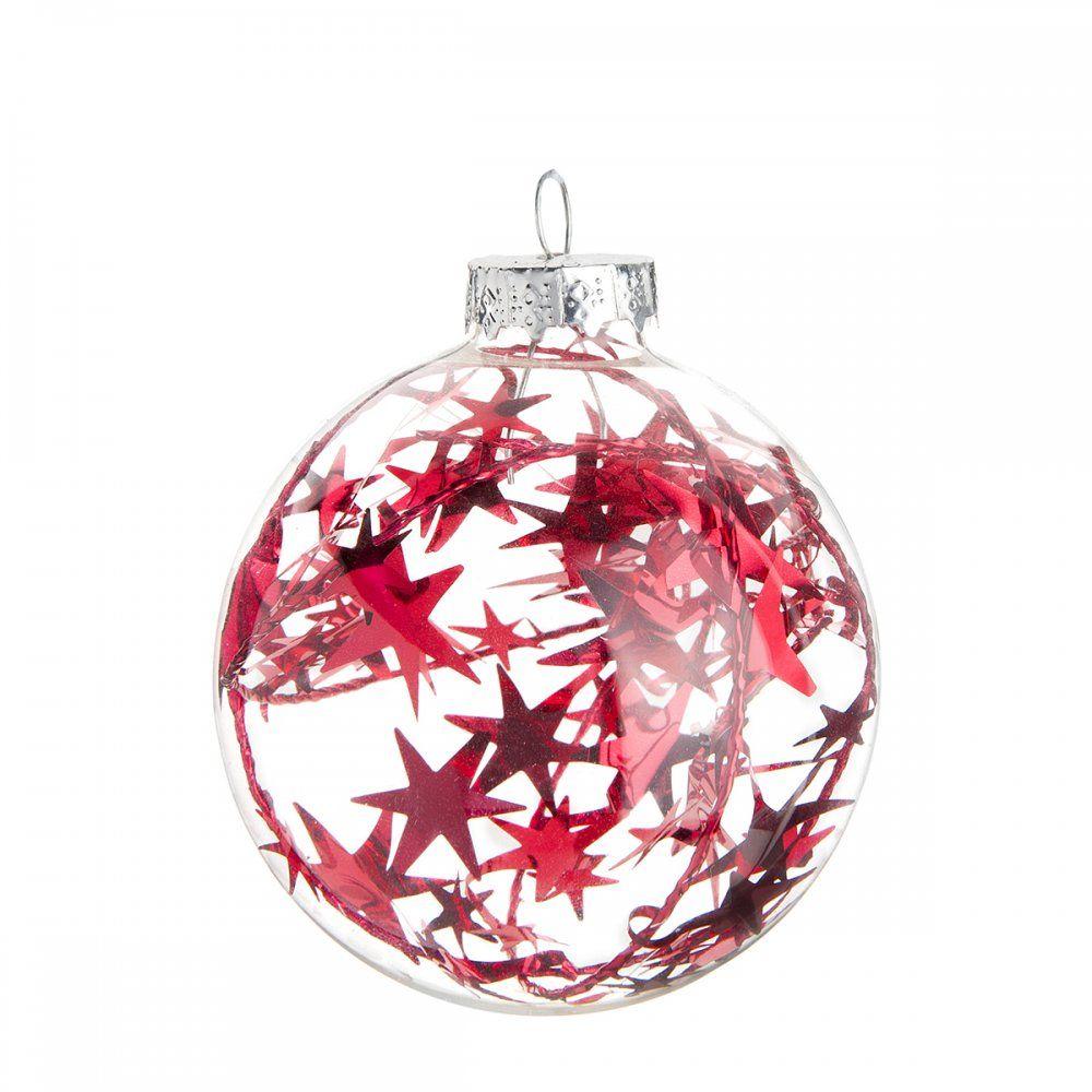 Boule De Noel Transparente A Decorer destiné boules de noël rouges ou vertes pour une décoration de sapin