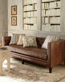 Miraculous Barclay Butera Lifestyle Celeste Leather Sofa 5899 00 Onthecornerstone Fun Painted Chair Ideas Images Onthecornerstoneorg