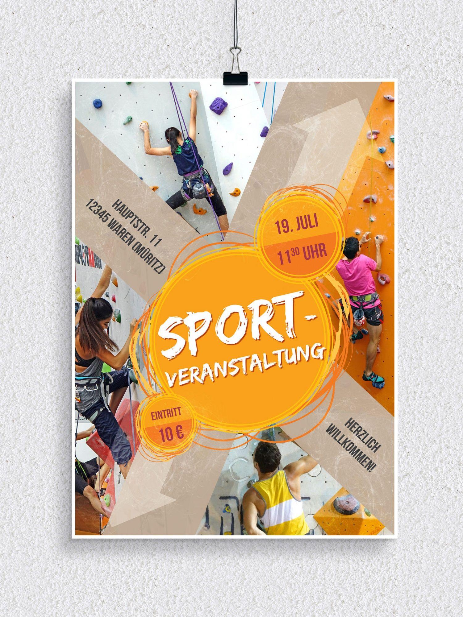 Vorlagen Fur Sportveranstaltungen Flyer Und Plakate Flyer Flyer Vorlage Plakat
