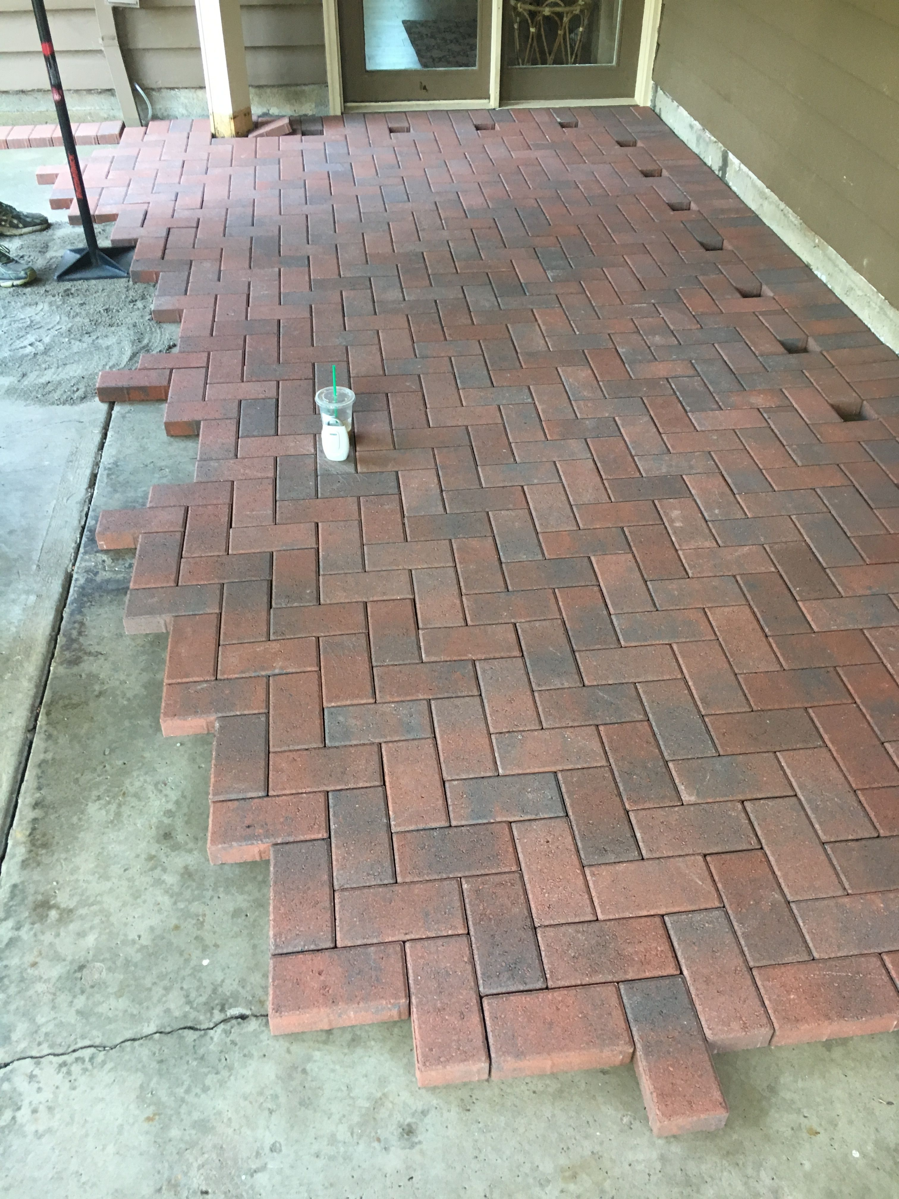 Brick Paver Patio With Fire Pit Cost: DIY Herringbone Red Brick Pavers