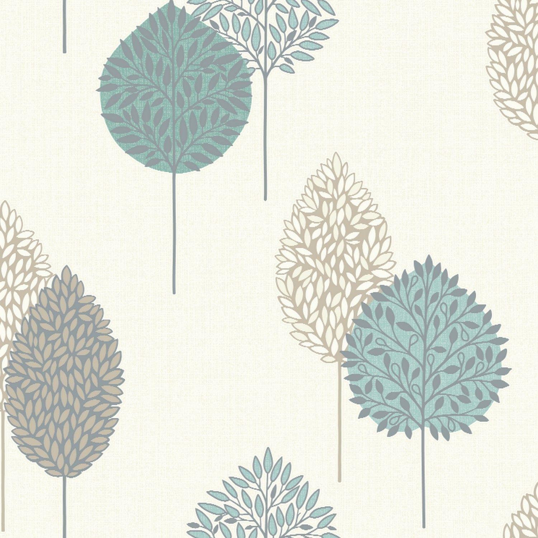 Arthouse Dante Motif Floral Wallpaper Teal wallpaper