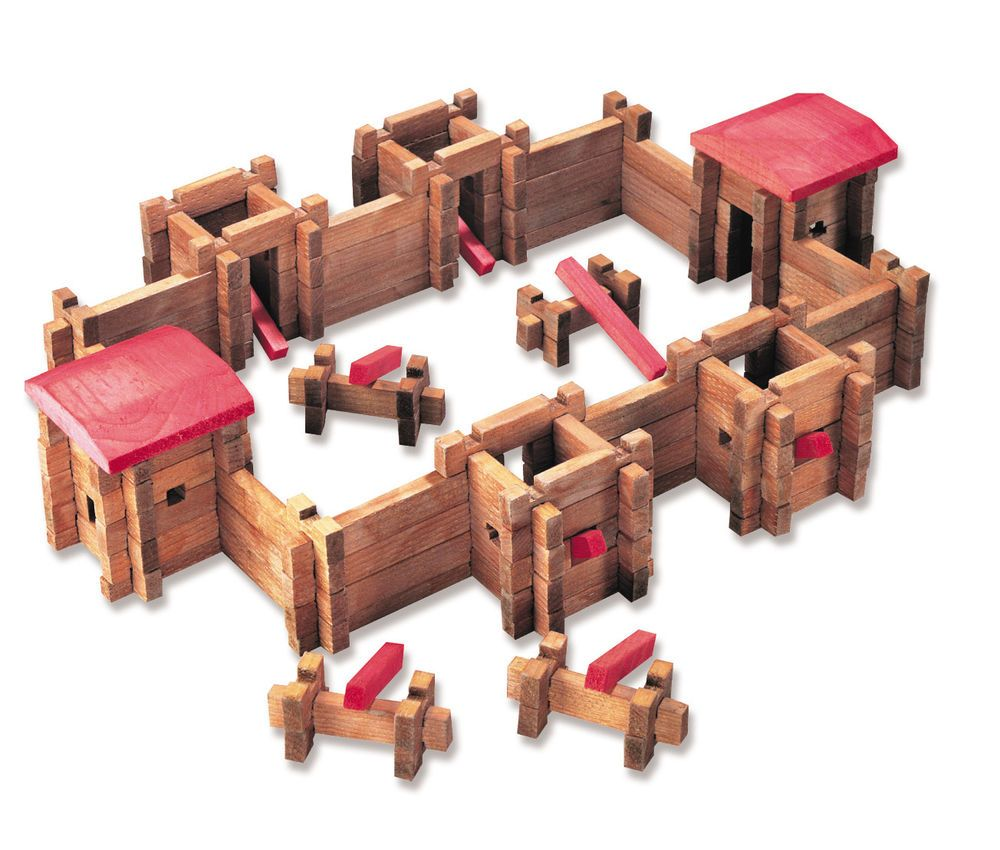 Traditional Log Fort Roy Toy 140 pcs. item #20002