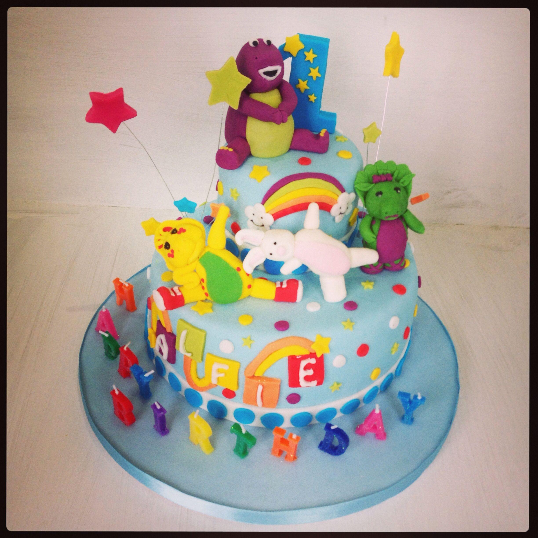 Barney the Dinosaur 1st birthday cake Birthday ideas Pinterest