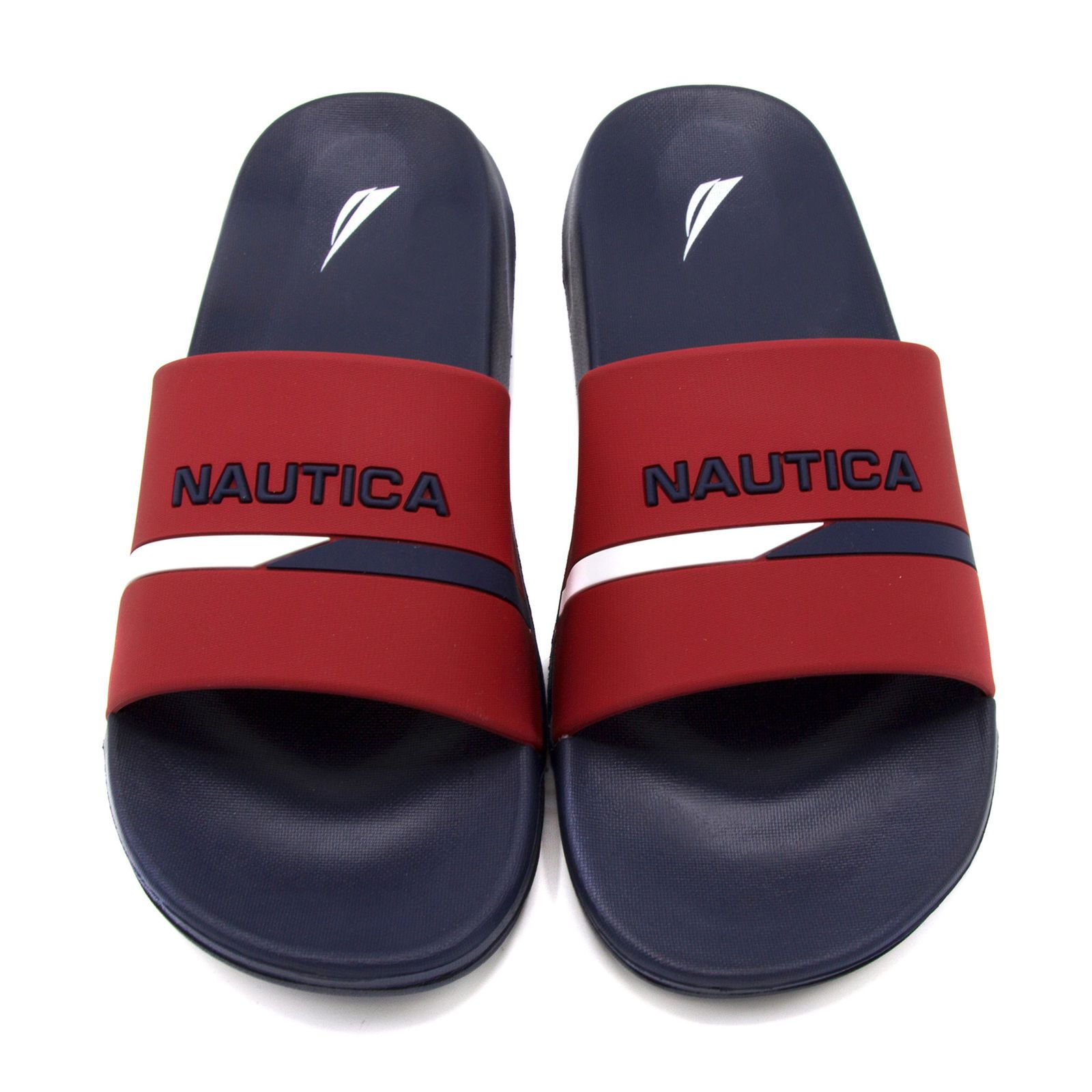 2859b50e9c3b Nautica mens stono logo slides red nautica pinterest logos jpg 1600x1600  Red polo slides