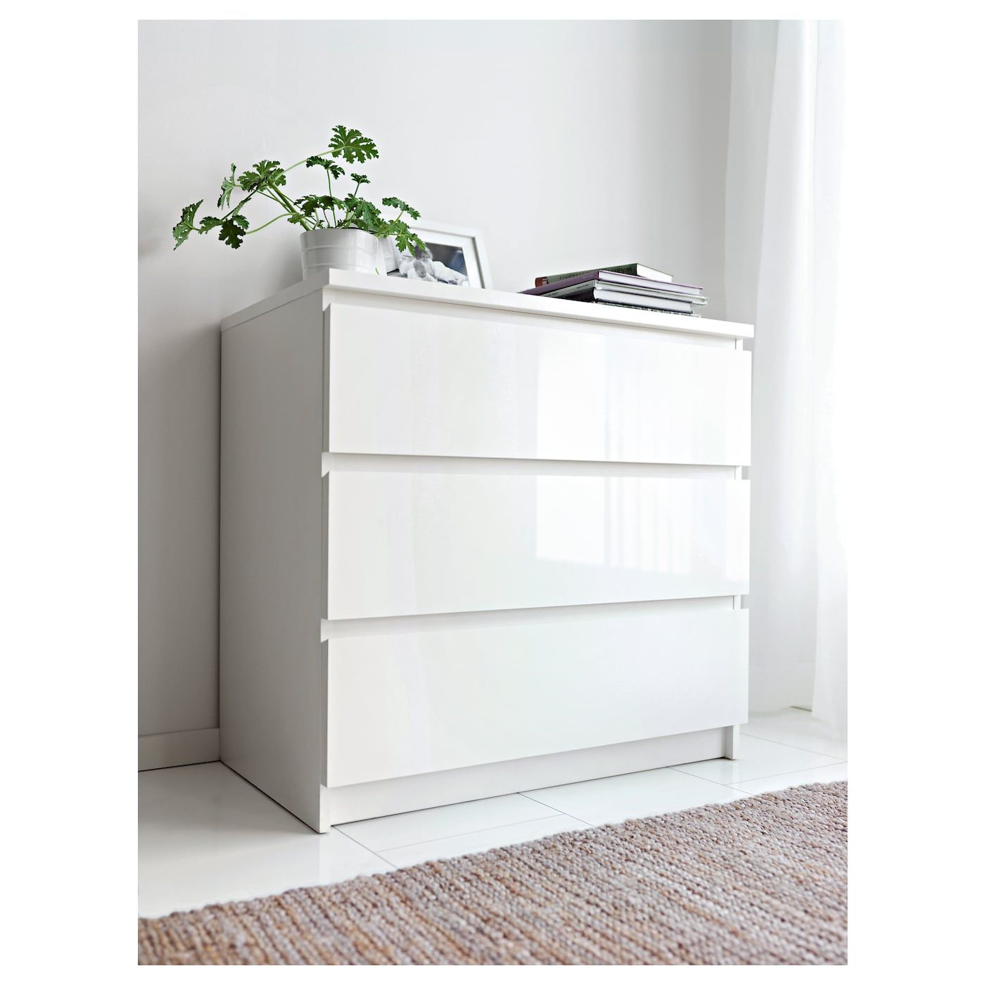 Ikea Malm Kommode Mit 3 Schubladen Malm Kommode Kommode Weiss