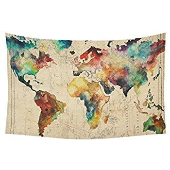 Amazon uphome colorful world map wall tapestry hanging light amazon uphome colorful world map wall tapestry hanging light weight polyester gumiabroncs Choice Image