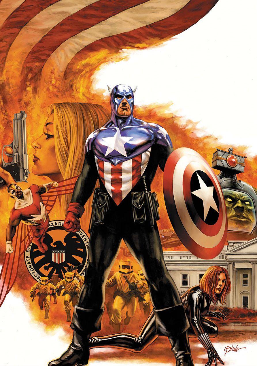 """662 - """"O Homem Que Comprou a América - Parte 5"""", história escrita por Ed Brubaker, desenhada por Steve Epting : http://quadrinhosdarkmarcos.blogspot.com.br/2014/05/o-diario-de-steve-rogers-parte-662.html"""