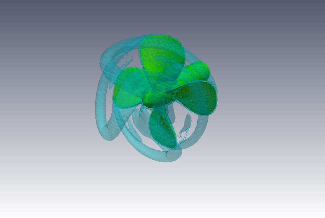 CFD Simulation of Flow Around a Propeller with OpenFOAM