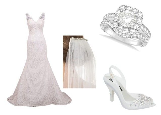 A woman's day to shine bright like a diamond by amandagailgoodwin on Polyvore featuring Melissa, Allurez and Jenny Packham