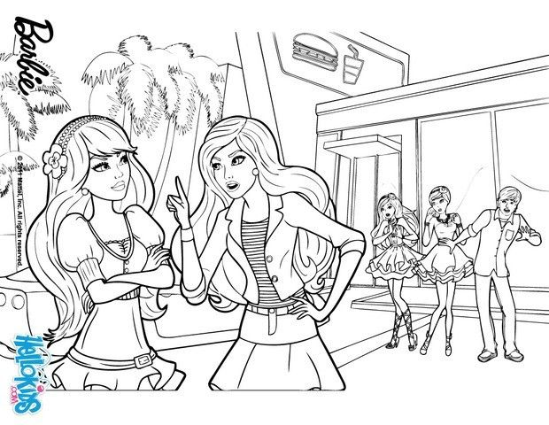 Barbie And Raquelle Are Arguing Barbie Coloring Page More Barbie A Fairy Secret Coloring Pages On Hellokid Barbie Coloring Pages Barbie Coloring Barbie Fairy