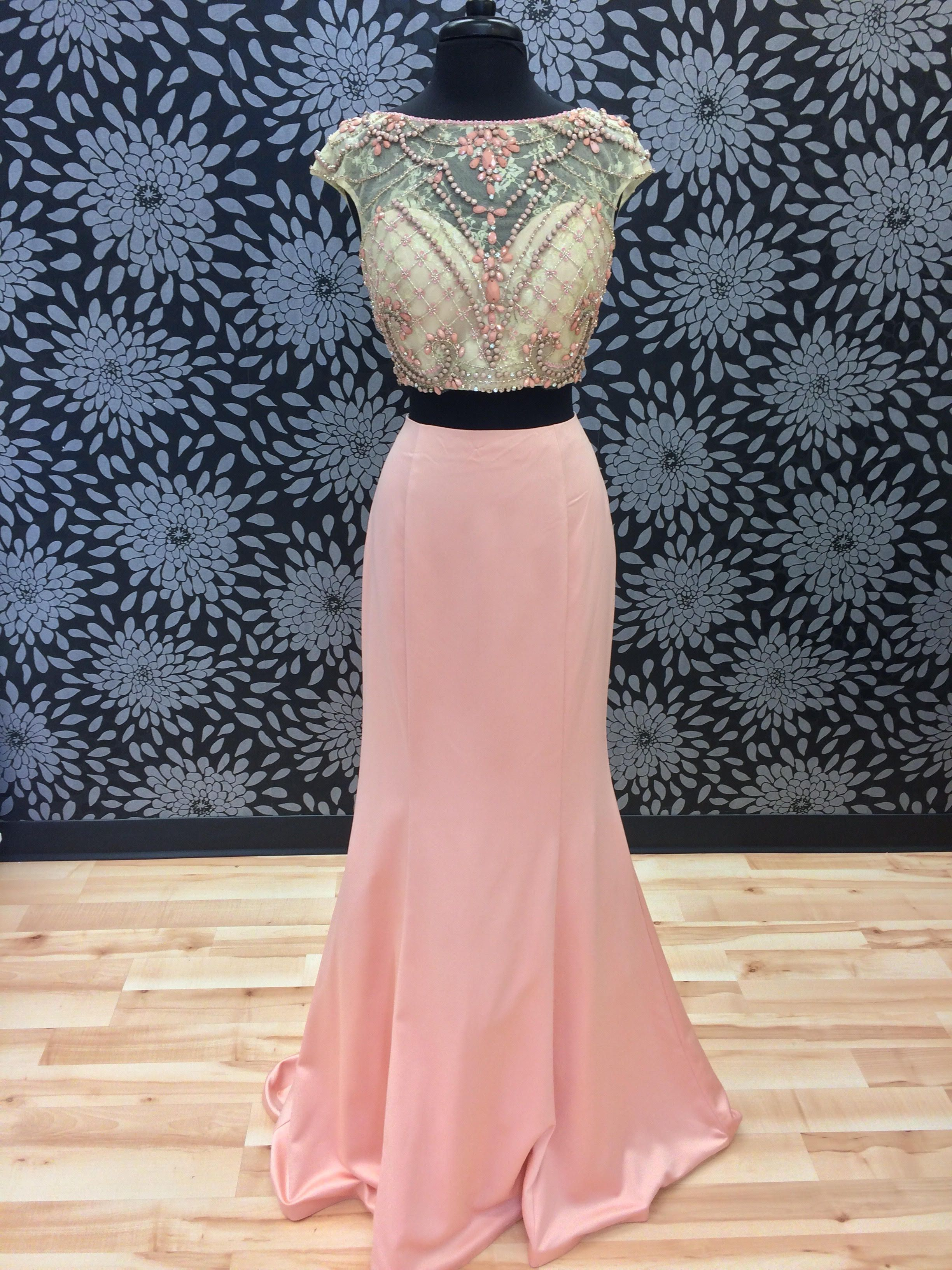 Blush twopiece prom dress products pinterest prom dresses