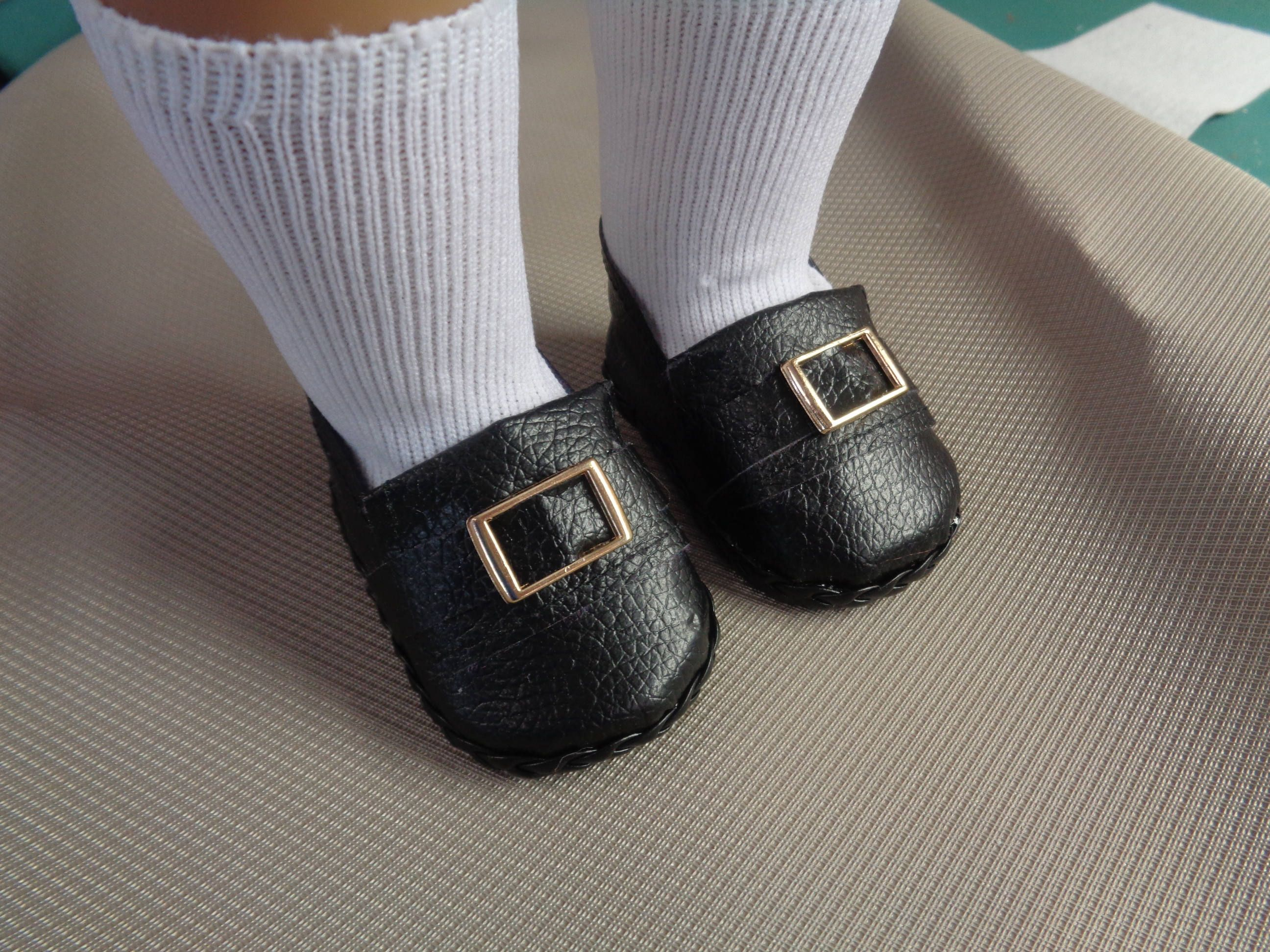 501b590dacc32 Black Colonial Brass Buckle Doll Shoes -Fits 18 Inch Dolls - Fits ...