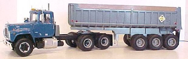 Mack R-model with Tri-Axle Gravel Trailer
