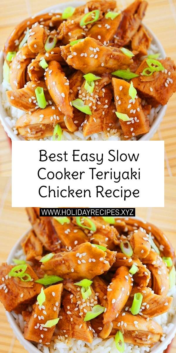 The Best Easy Slow Cooker Teriyaki Chicken Recipe images