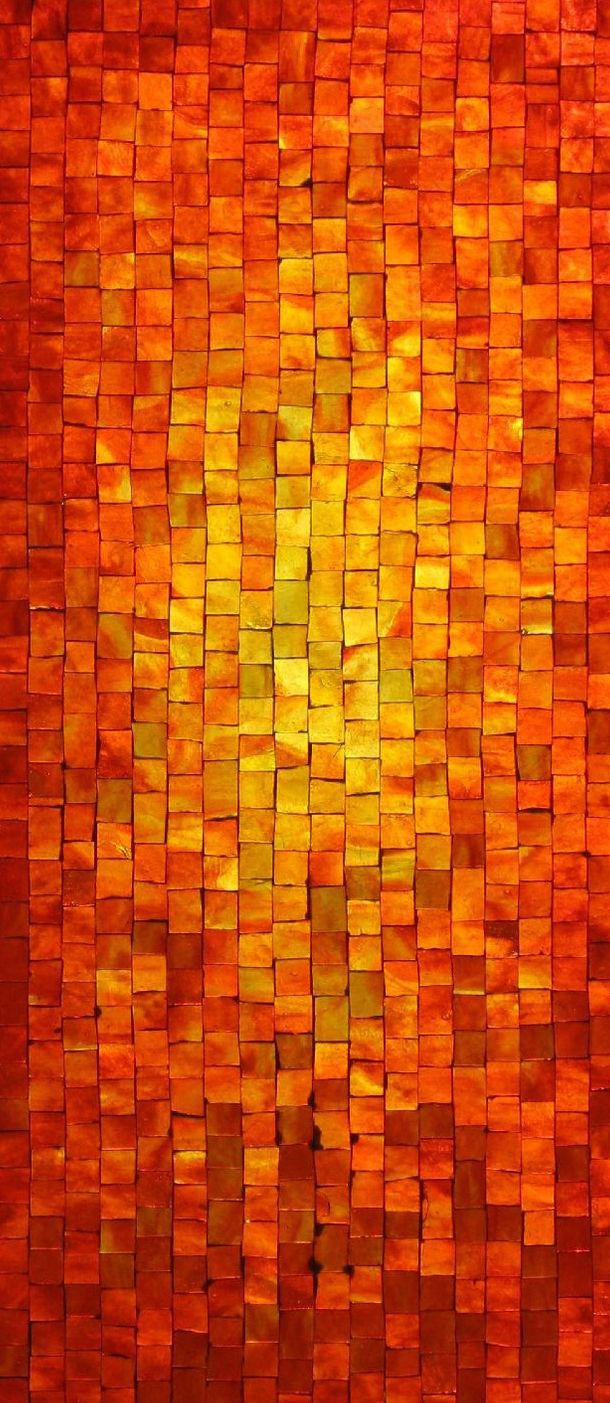 Mosaic Tiles in Yellows and Oranges Mosaic